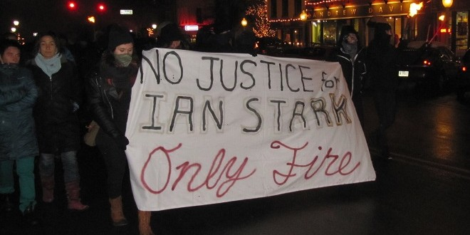 """No Justice For Ian Stark"": Rally Decries Lack of Shelter"