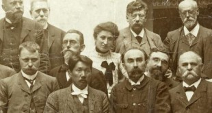 Rosa Luxemburg and other international socialist leaders, including Karl Kautsky (German), Victor Adler (Austria), Georgii Plekhanov (Russia), Edouard Vaillant (France) and Sen Katayama (Japan).