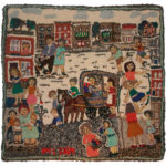 """Little Italy"" rug by Marian Sykes. Image courtesy of Traditional Arts Indiana."