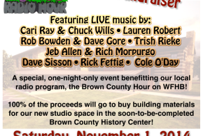 Help Brown County Hour Raise Money for a New Studio