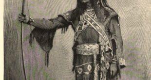 Edwin Forrest as Metamora (1890s engraving)