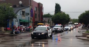 Bloomington Police in the 2016 Fourth of  July parade.