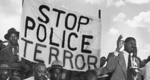 "Men at ""antipass"" protest, near Johannesburg, 1950  Margaret Bourke-White/Time-Life/Getty Images"