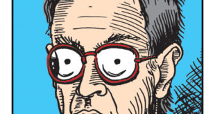 Cartoon Paul Buhle by Steve Chappell