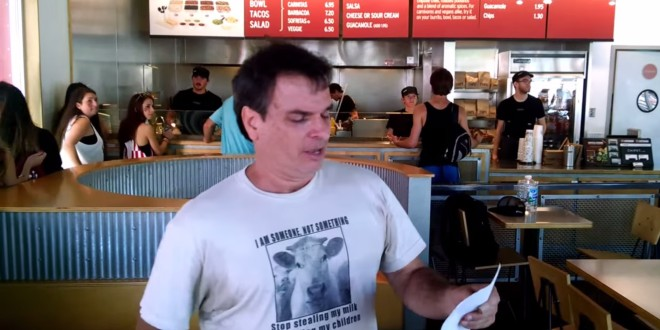 Animal Rights Group Stages Monthly Protest At Bloomington Chiptole