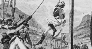 REVENGE TAKEN BY THE BLACK ARMY FOR THE CRUELTIES PRACTISED ON THEM BY THE FRENCH, ENGRAVED BY INIGO BARLOW, FROM 'AN HISTORIC ACCOUNT OF THE BLACK EMPIRE OF HAITI', PUBLISHED IN 1805 (ENGRAVING) BY MARCUS RAINSFORD