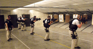 Critical Incident Response Team in training at the Public Safety Training Center on South Walnut. Photo courtesy of the Bloomington Police Dept.